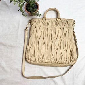 Miu Miu large cream tote bag